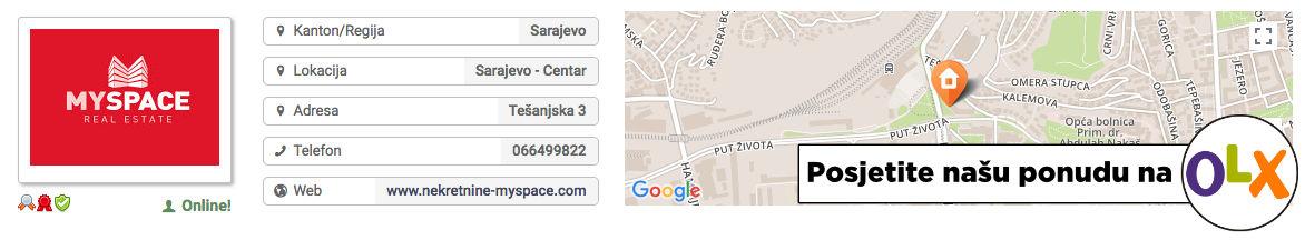 MY SPACE Nekretnine Sarajevo